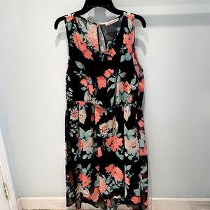 Ardene • Blαck & corαl/pink flowers dress 🌸